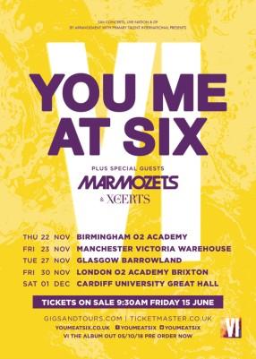 you me at six tour
